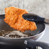 Pork fried in a pan. — Foto de Stock