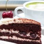 Green tea and Cheesecake  — Stock Photo #31143083