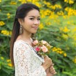 Portrait beautiful Asian Girl — Stock Photo