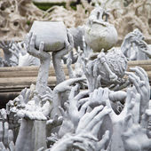 Wat Rong Khun in Chiang Rai Thailand — Stock Photo