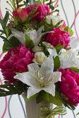 Plastic flowers. — Stock Photo