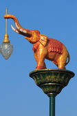 Street Lighting elephants — Stock Photo