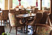 Tables restaurant — Stock Photo