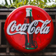 Coca-cola shield — Stock Photo