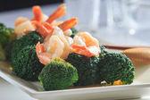 Shrimp Fried Broccoli broccoli — Stock fotografie