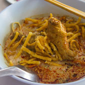 Noodle con curry — Foto Stock
