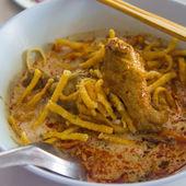 Makaron z curry — Zdjęcie stockowe