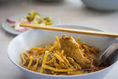 Noodle with curry — Stock Photo