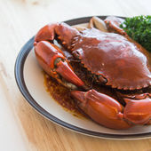 Big crab stir chili — Stock Photo
