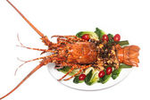 Dish of lobster roasted — Stock Photo
