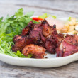 Fried sour ribs pork — Stock Photo