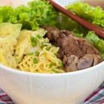 Duck noodle soup. — Stock Photo