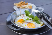 Home fried egg — Stock Photo
