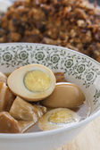 Stewed eggs — Stock Photo
