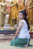 Perfil de mujer asiática — Foto de Stock