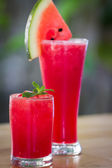 Fresh watermelon smoothie  — Stock Photo