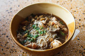 Noodles in soup spicy Asian style. — Stockfoto