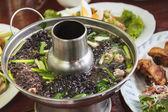 Sopa con carne de cerdo picada — Foto de Stock