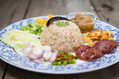 Fried rice with Shrimp paste, Thai style food — Stock Photo