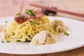Pasta wonton — Foto Stock