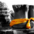 Destroy Buddhwith yellow robe — Stock Photo #12263324