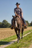 Equitation - Western Riding — Stock Photo