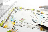 Gartenplanung — Stockfoto