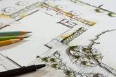 Gartenplanung — Stock Photo