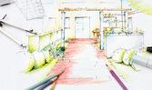 Garden Sketch Design — Stock Photo