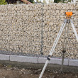 Landscaping Gabion Wall - Foto Stock