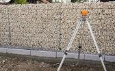 Landscaping Gabion Wall — Stock Photo