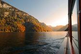 Sunset on Lake Königssee — Stock Photo