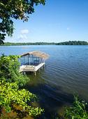 Boathouse on Lagoon — Stock Photo