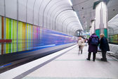 Subway Station in Munich — Stock Photo