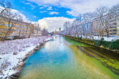 Isar River in Munich — Stock Photo