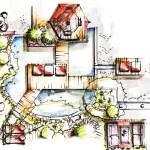 Garden Sketch Design — Stock Photo #39868121
