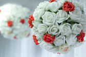 Bridal bouquet of flowers in the shape of layer — Stock Photo