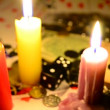 Gambling by candlelight — Stockvideo