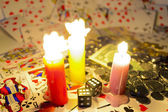 Gambling with candles — Stock Photo