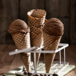 Chocolate Chip Ice Creams — Stock Photo