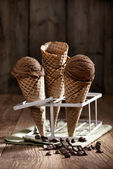 Chocolate Chip Ice Creams — 图库照片
