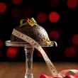 Christmas Pudding - Stock Photo