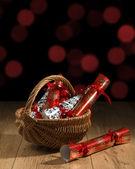 рождественские крекеры — Стоковое фото