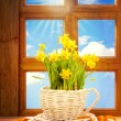 Spring Window - Stock Photo