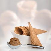 Chocolate Icecream — Stock Photo