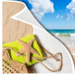 Summer Beach Basket - Stock Photo