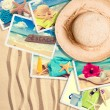 Stock Photo: Postcards In Sand