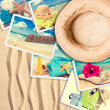 Postcards In The Sand - Stock Photo