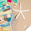Summer Beach Postcards - Stock Photo