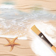 Painting The Beach - Stock Photo
